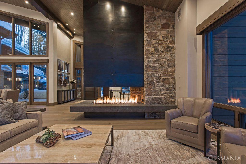 Custom built living room
