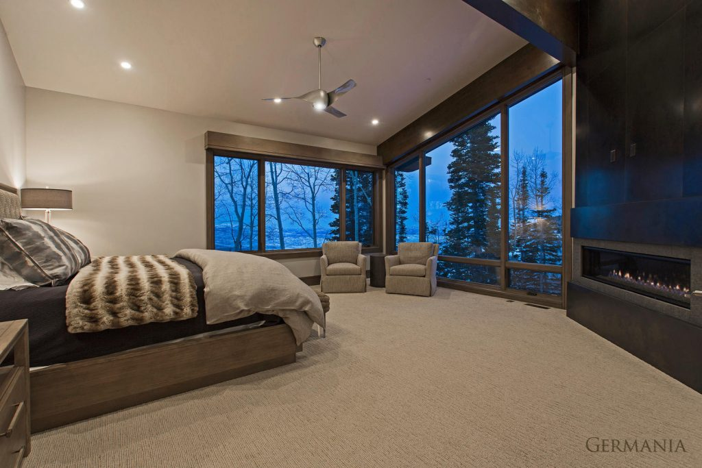 Custom home master bedroom