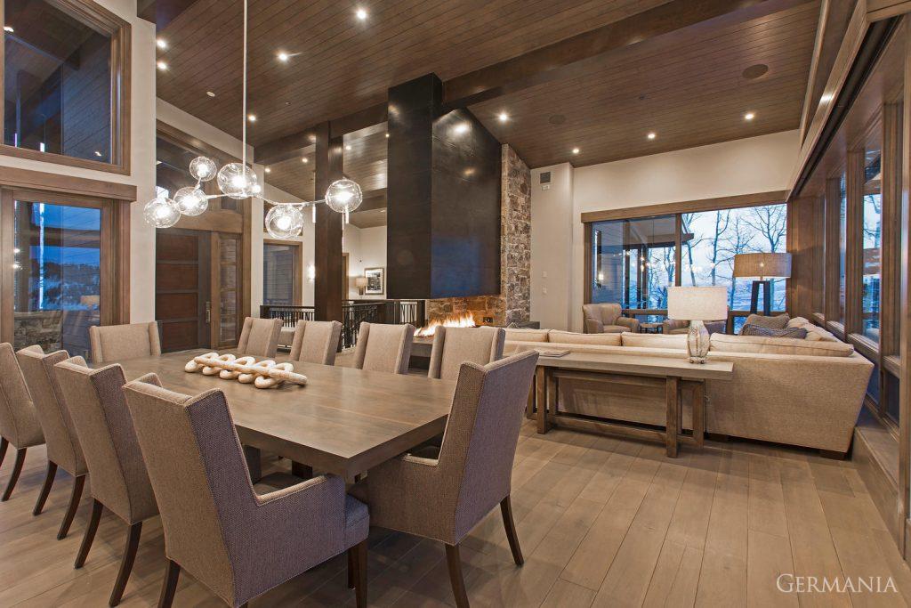 Custom house design dining room