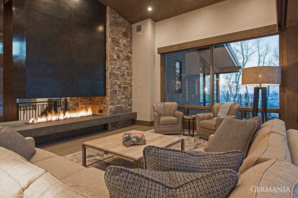 Custom house design living room
