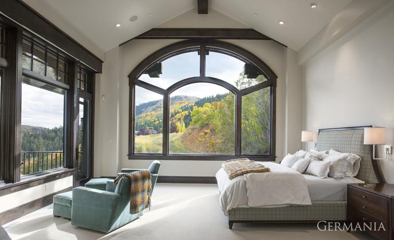 Build custom luxury home bedroom park city utah