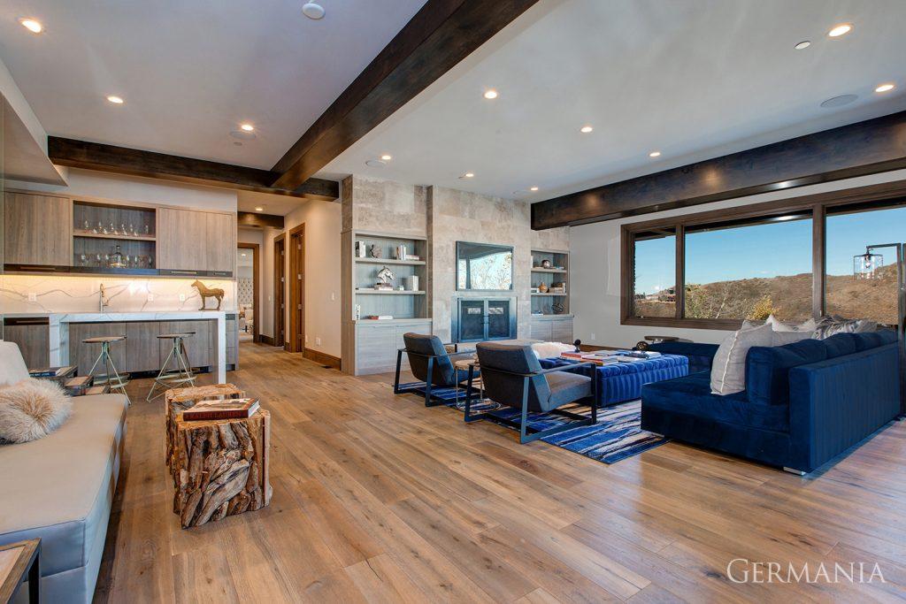Build custom luxury home living room park city utah