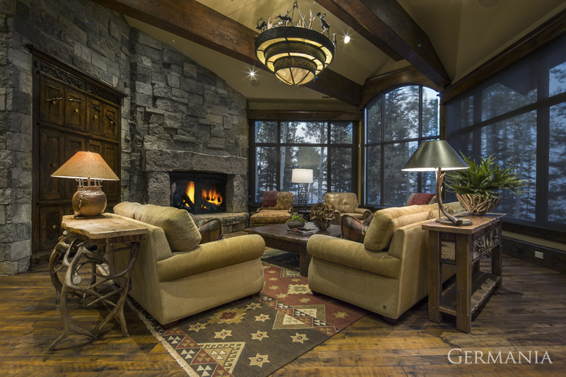 Build custom luxury home living room park city