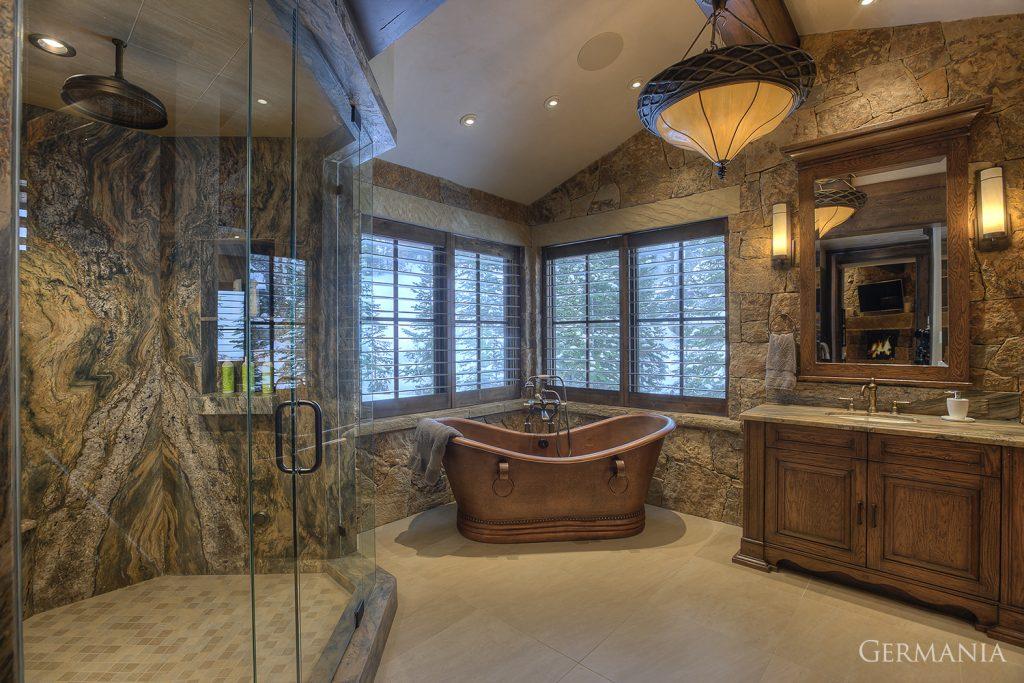 Build custom luxury home master bathroom