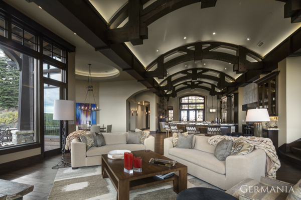 Build your own mansion living room park city
