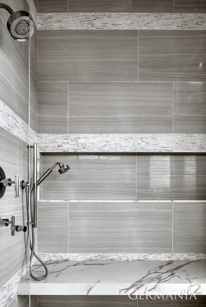 Custom contemporary home master bathroom