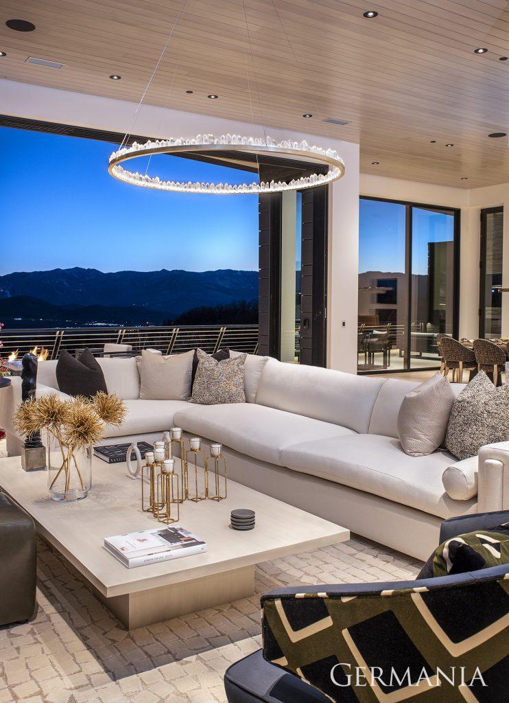 Custom home construction living room
