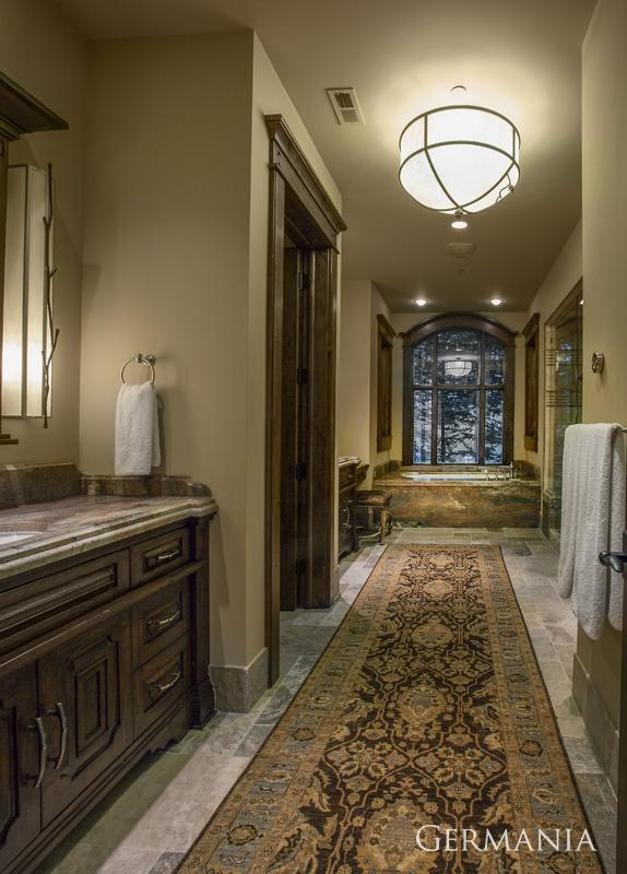 Custom home construction master bathroom