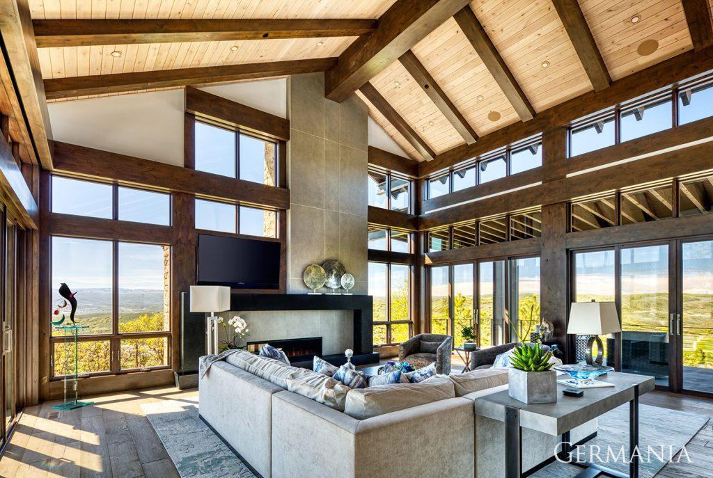 Custom home living room kamas