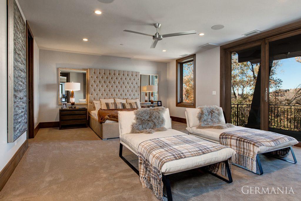 Custom house design master bedroom