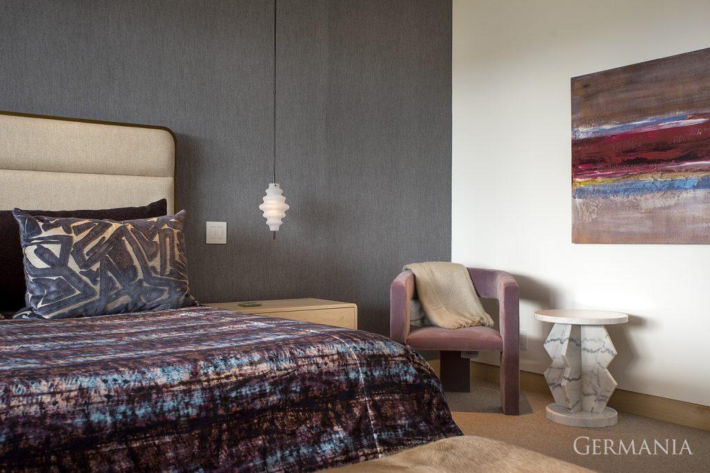 Custom luxury home bedroom park city