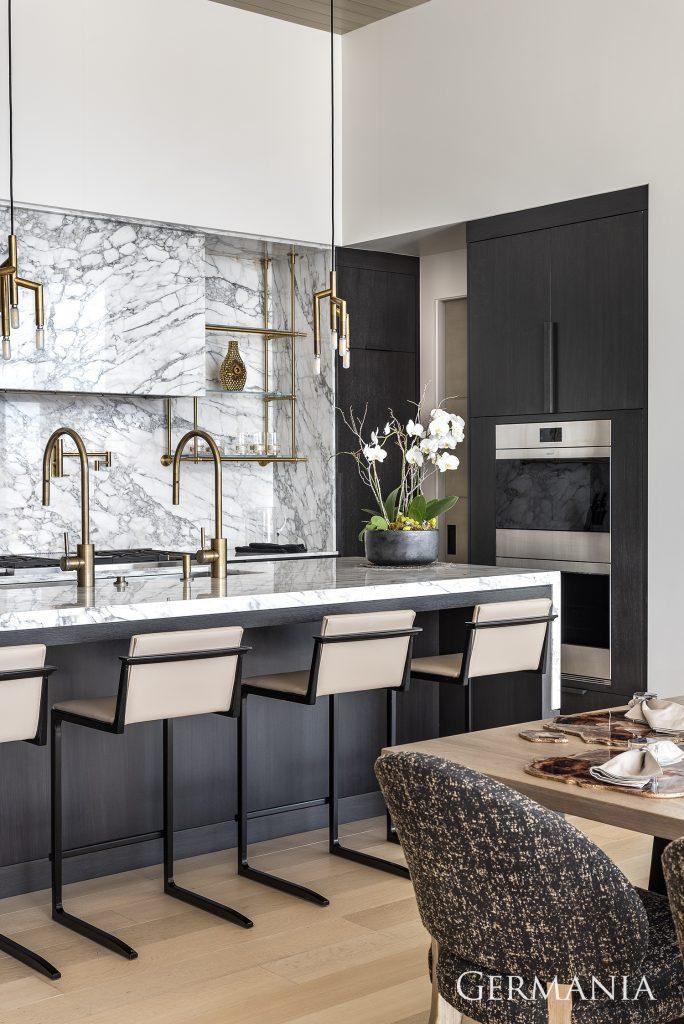 Custom luxury home kitchen park city