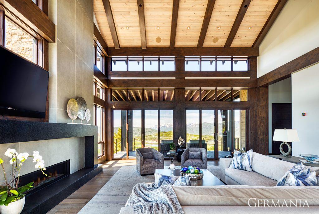 Custom luxury home living room park city