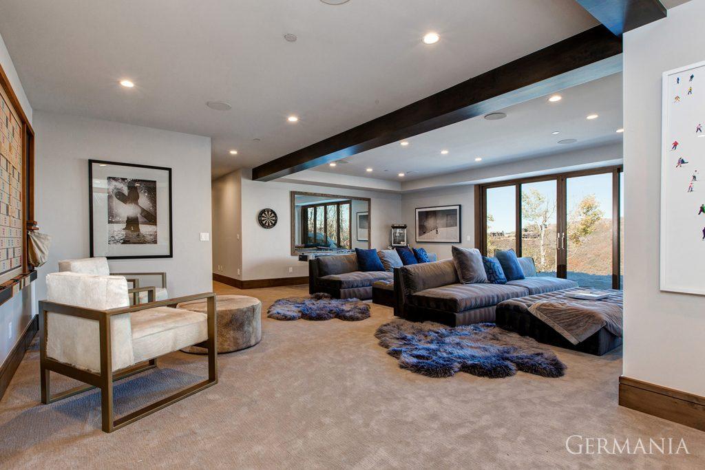 Custom luxury home living room park city utah