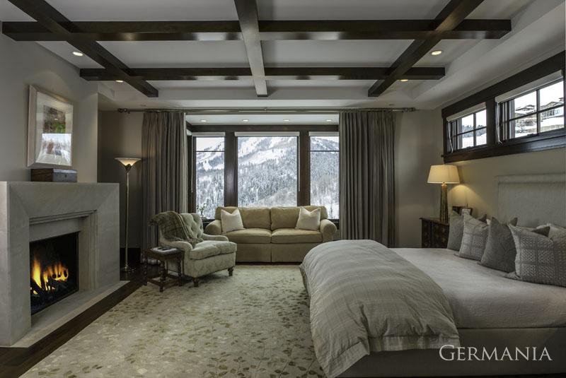 Custom luxury home master bedroom