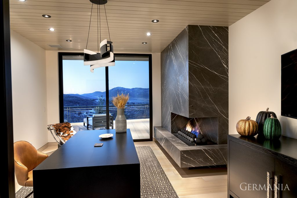 Custom luxury home office study