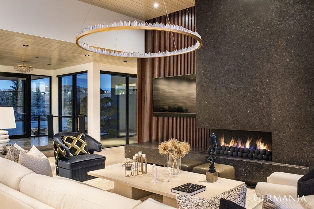 Custom made home living room