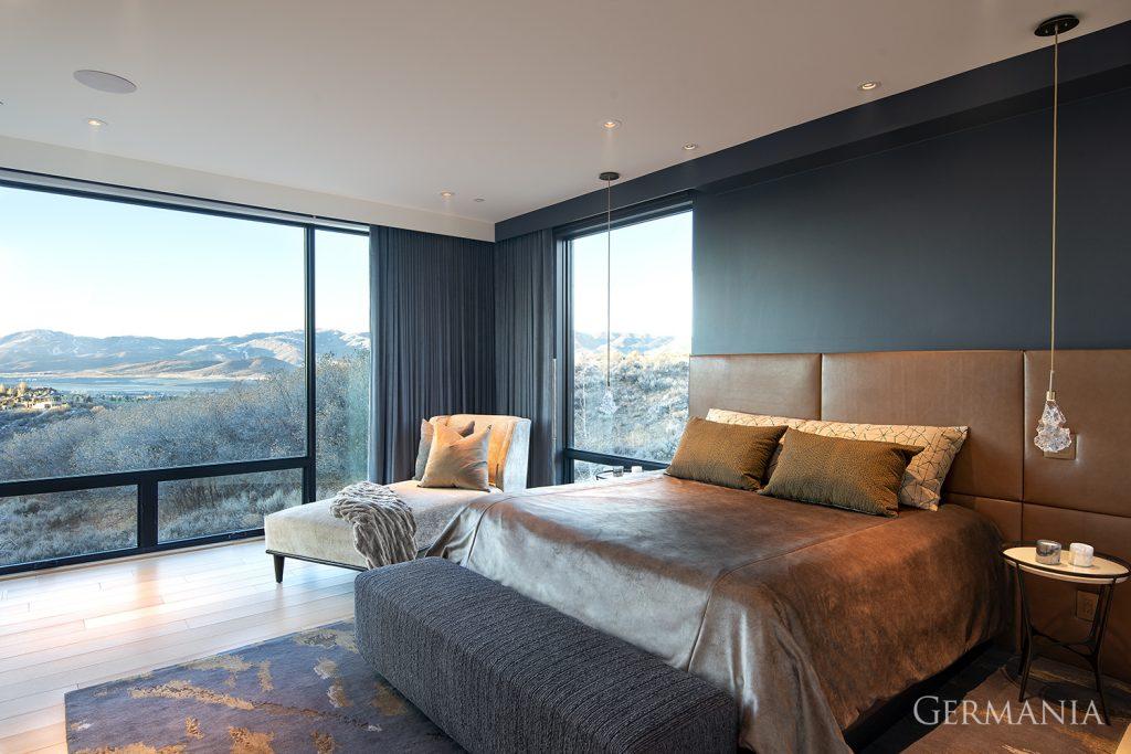 High end custom home bedroom park city utah