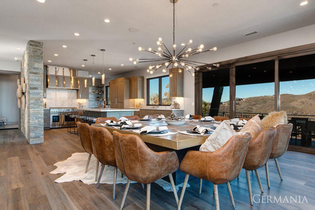 High end custom home dining room