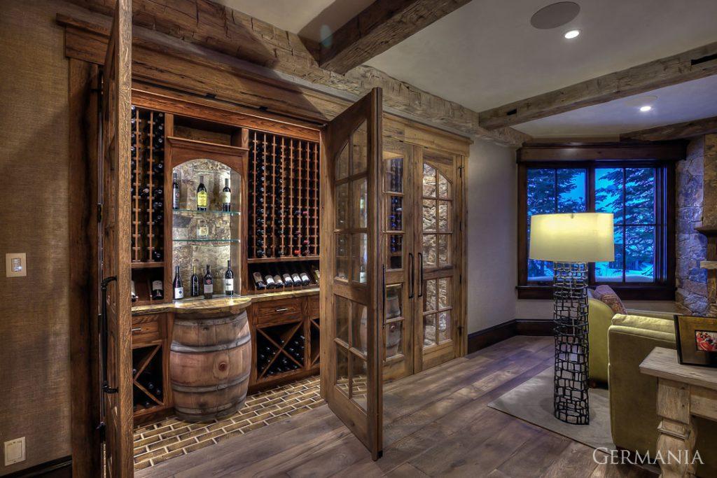 Luxury home wine room