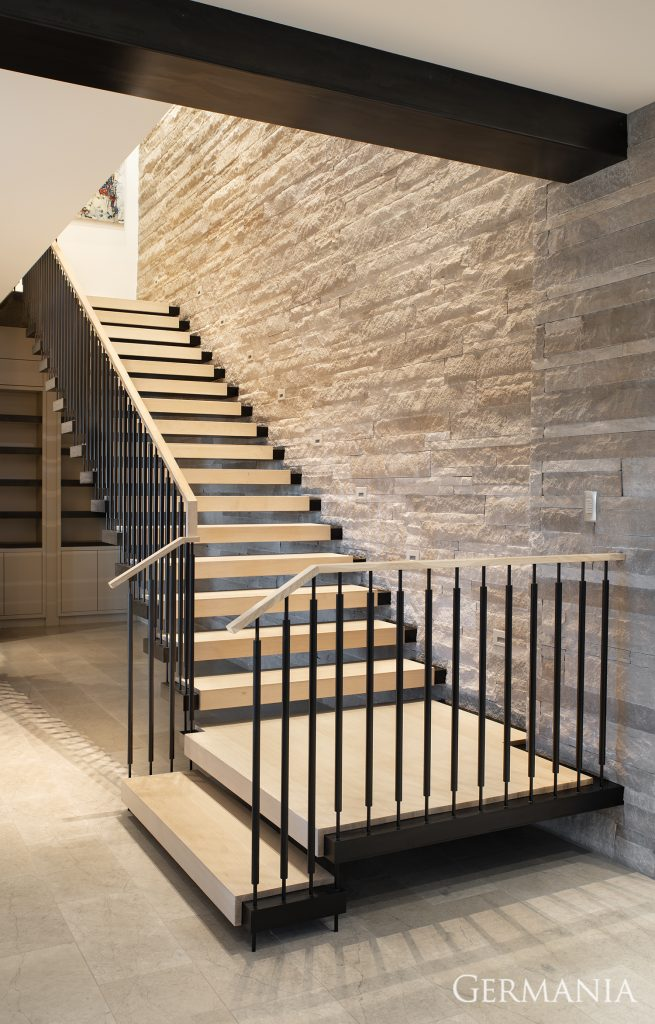 Mansion builders stairs and railing