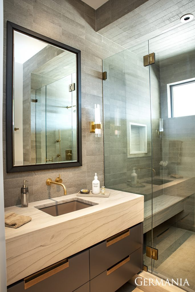Professional custom home bathroom park city