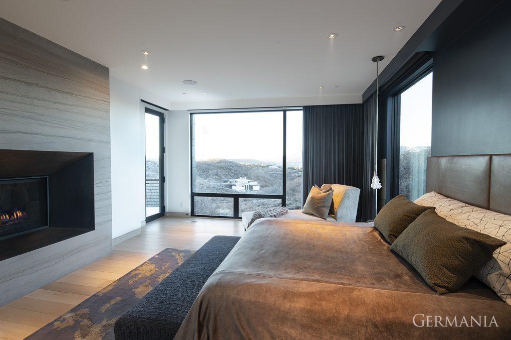 Professional custom home bedroom park city utah