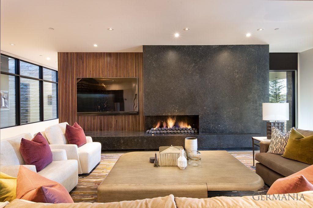 Professional custom home living room park city