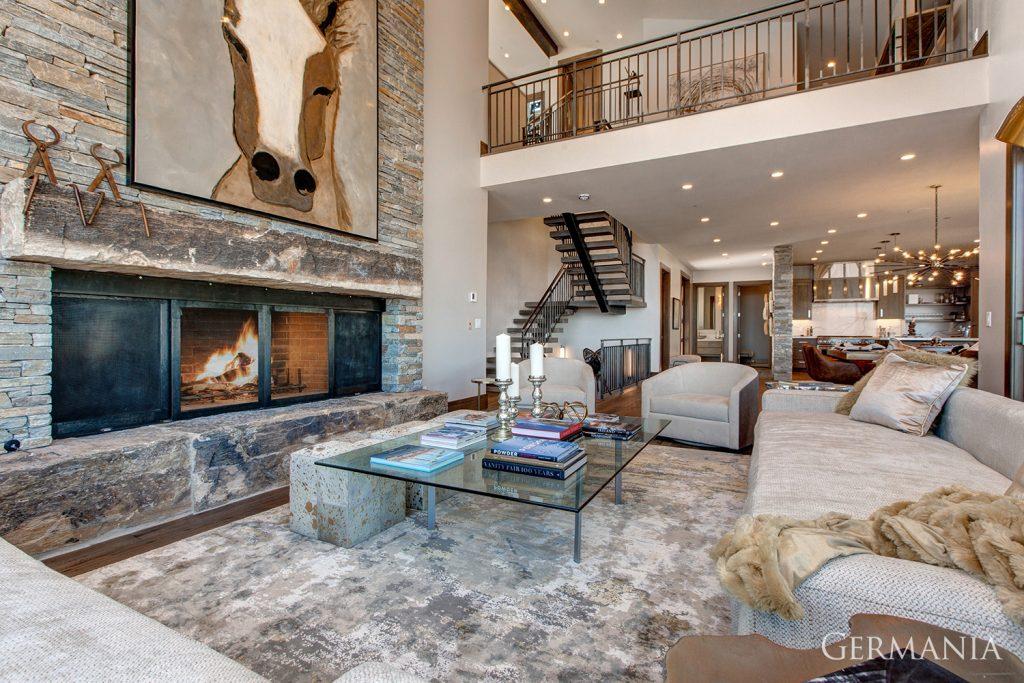 Professional custom home living room park city utah