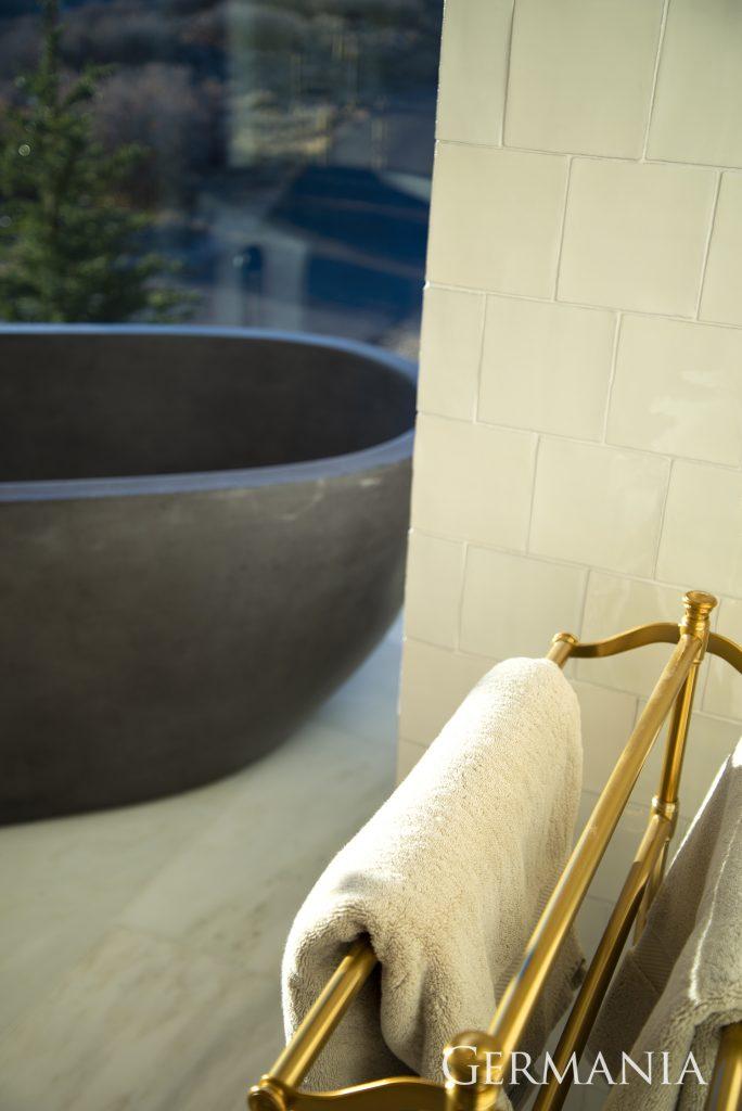 Professional custom home master bathroom