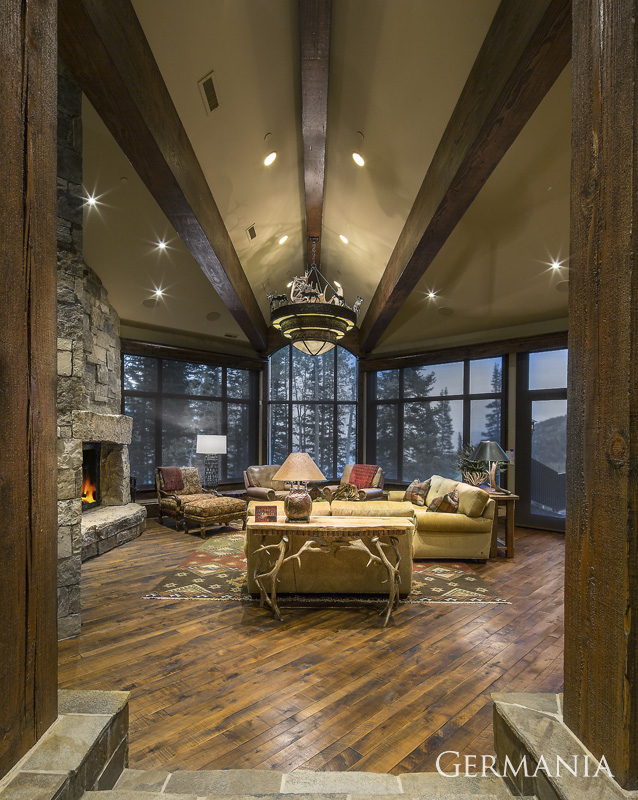 Vacation home living room park city