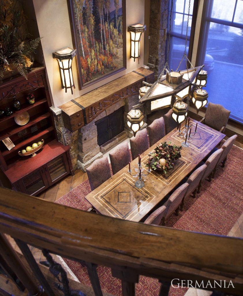 Build custom luxury home dining room park city utah