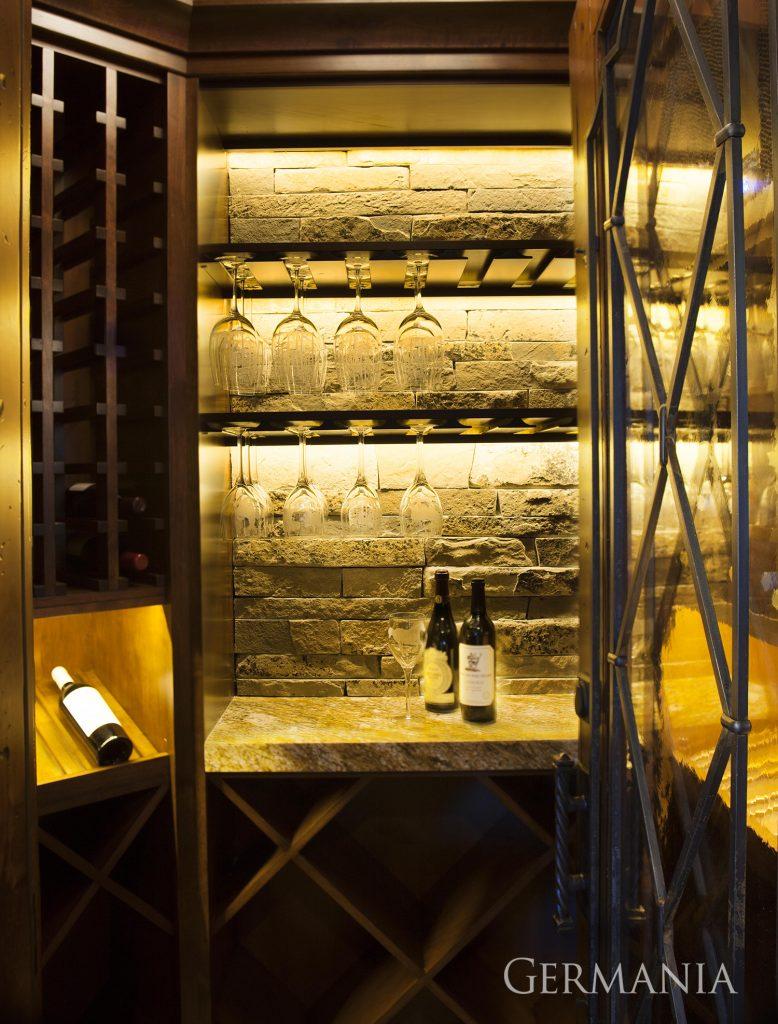 Custom built wine room