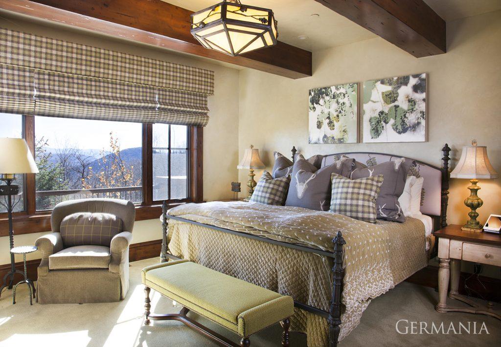 Custom contemporary home bedroom park city utah