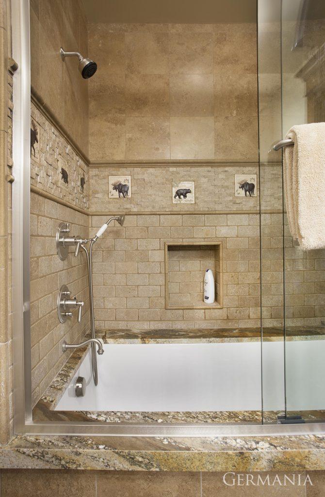 Custom home construction bathroom