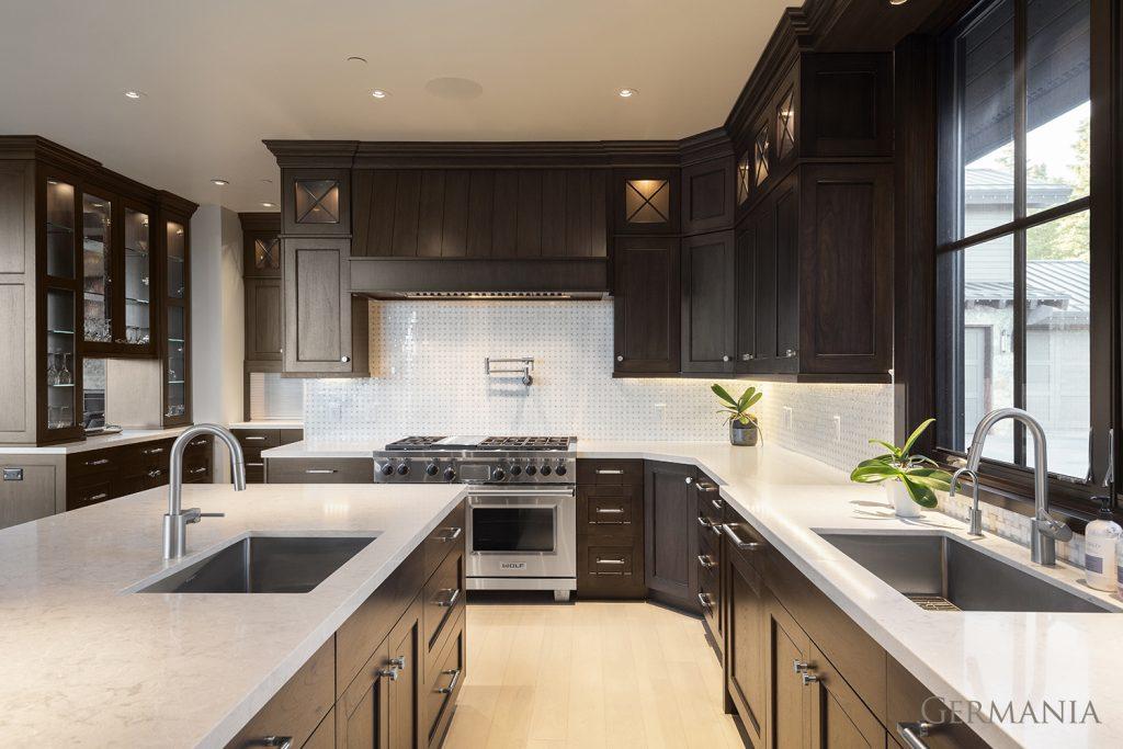 Build custom luxury home kitchen park city utah
