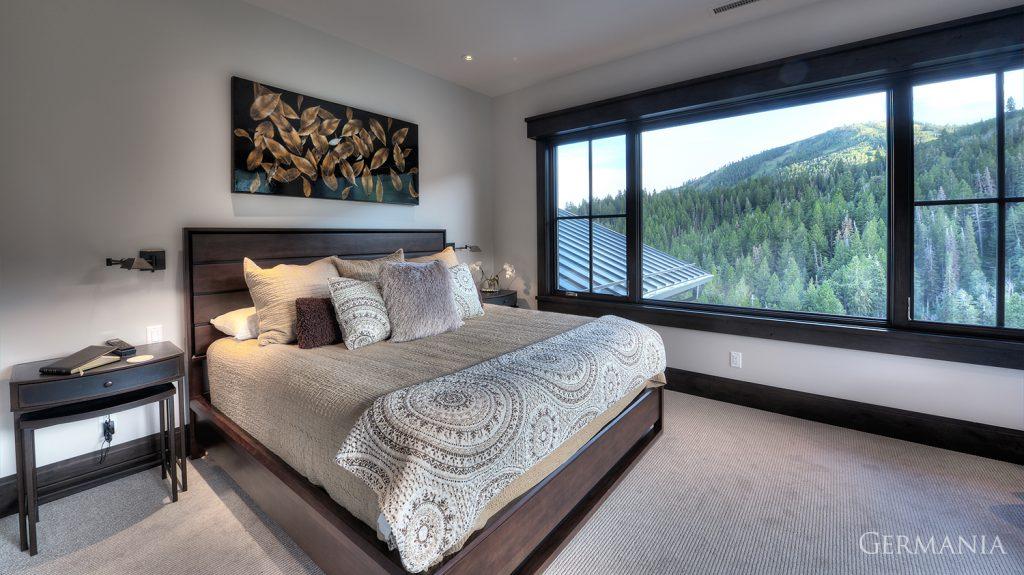 Custom contemporary home bedroom