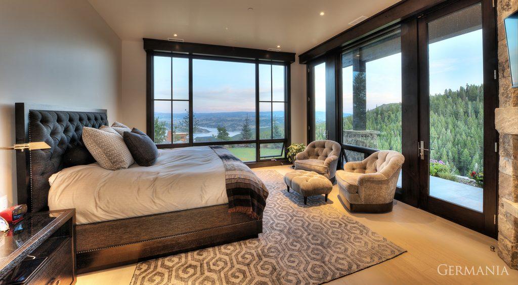 Custom home construction bedroom