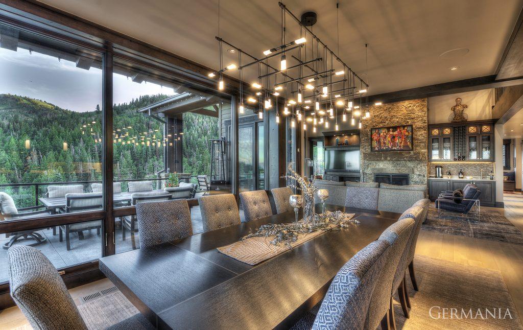 Custom home construction dining room