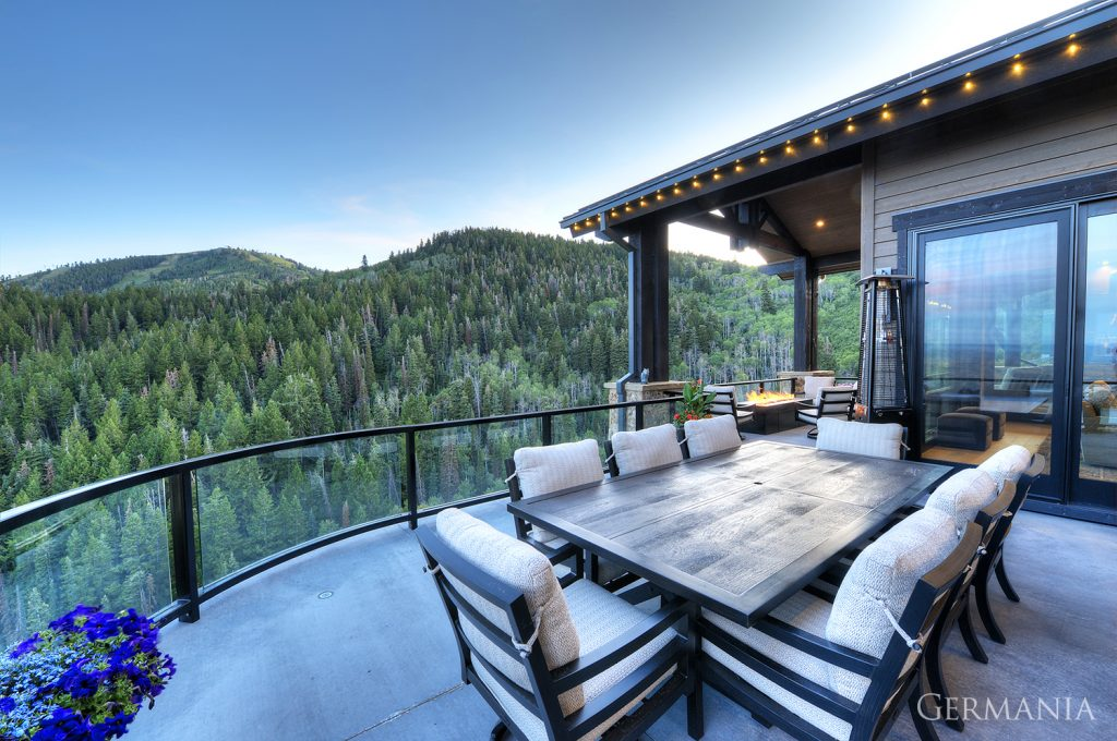 Luxury home deck