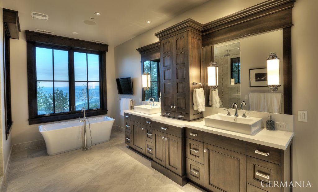 Custom house design master bathroom