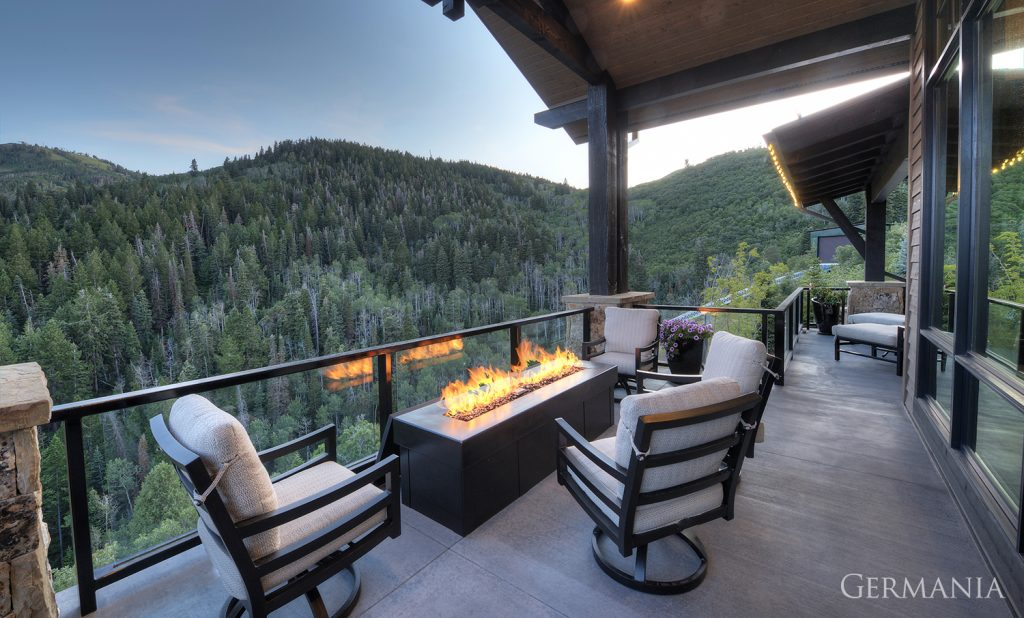 Custom luxury home deck