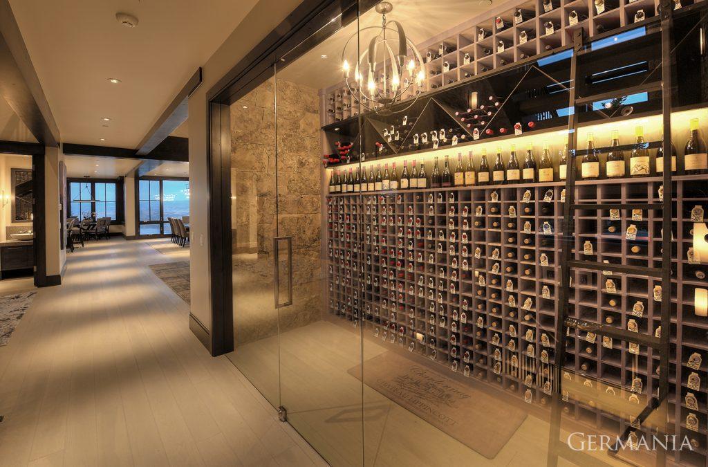 Custom luxury home wine room