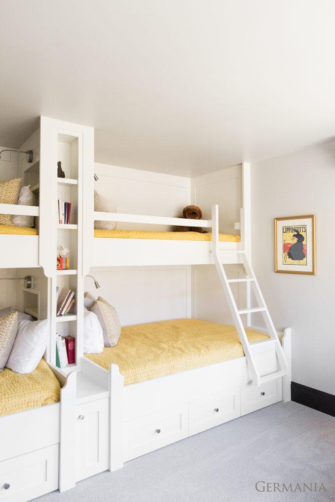 High end custom home bedroom