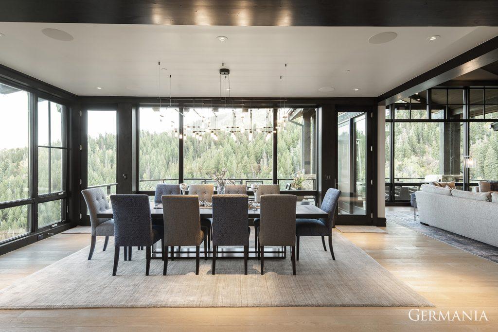 Professional custom home dining room