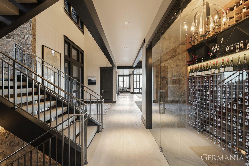 Vacation home wine room